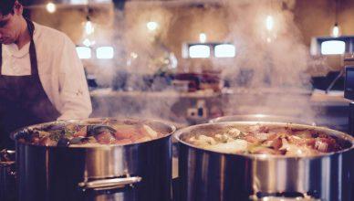 alimentação cozinha industrial